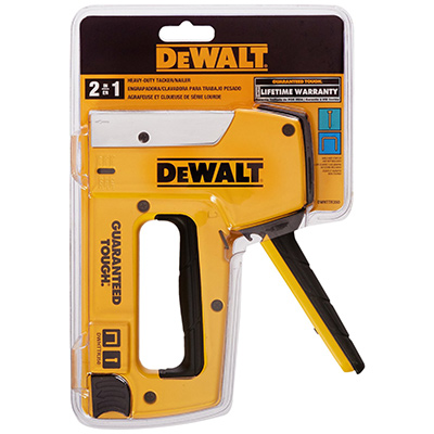 Best Manual Staple Gun DEWALT DWHTTR350 Heavy-Duty Aluminum Stapler/Brad Nailer