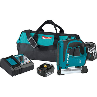 Best Cordless Staple Guns Makita XTS01T 18V LXT Lithium-Ion Cordless Stapler Kit