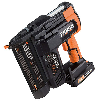 Best Battery Powered Staple Guns Freeman PE2118G 18 Volt 2-in-1 18 Gauge Cordless Nailer & Stapler