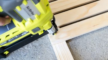 best framing nailer being used for a woodcraft