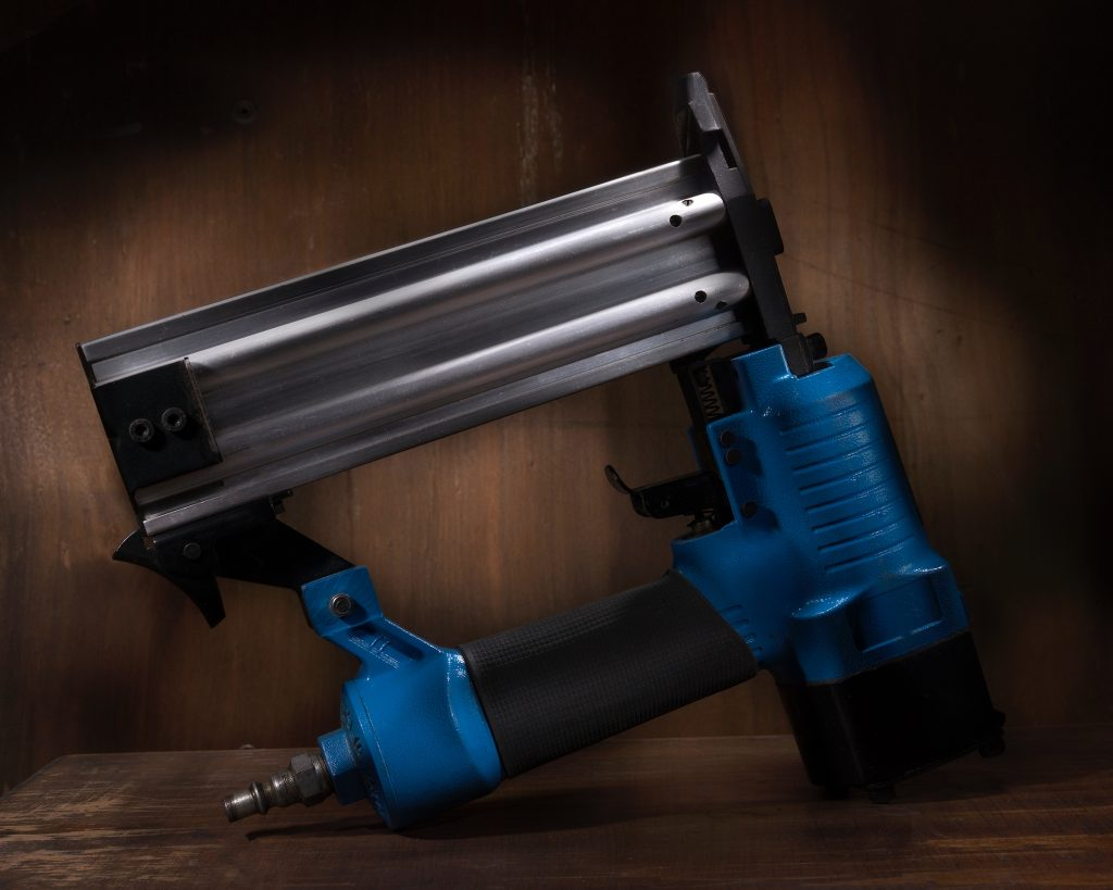 blue framing nailer
